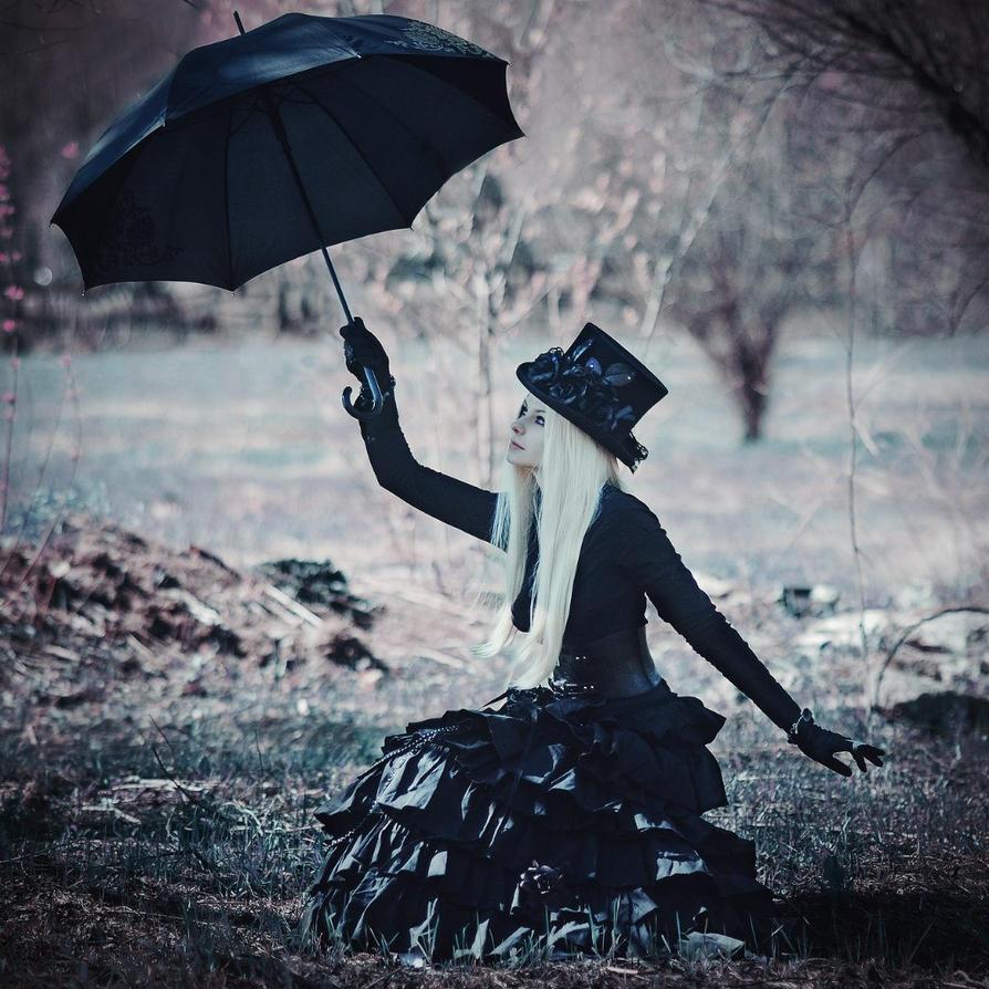 Black umbrella by SelenaAdorian