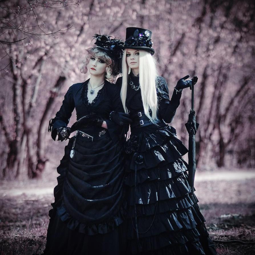 Sisters in black by SelenaAdorian