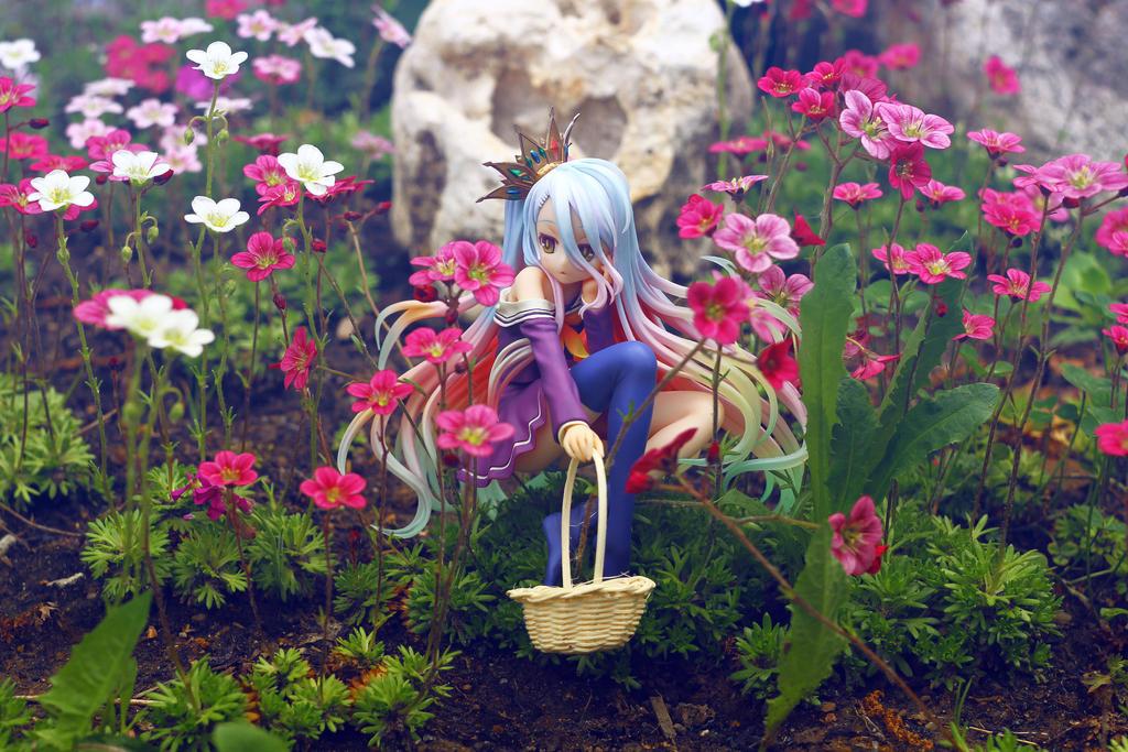 Shiro in garden by SelenaAdorian