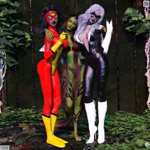 BTS - BFFS - Spider Woman, Poison Ivy, Black Cat