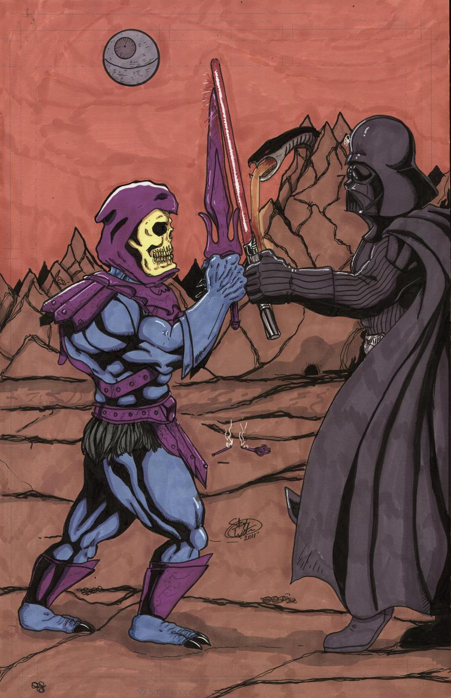 skeletor vs darth vader by MonsterIslandStudios on DeviantArt