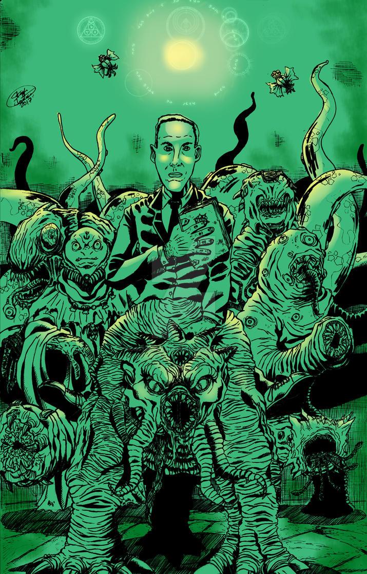 H.P Lovecraft by MonsterIslandStudios