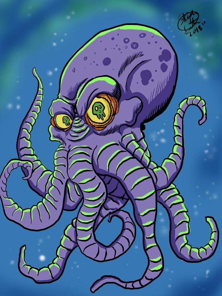 Evil Octopus  by MonsterIslandStudios