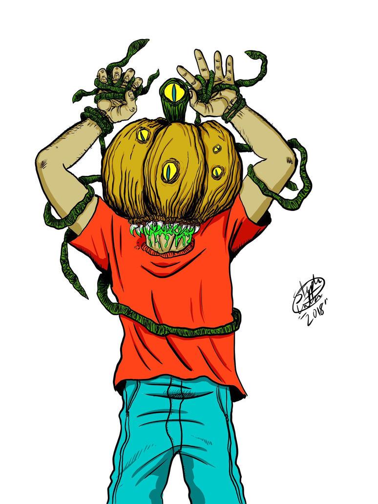 Alien Pumpkin Monster  by MonsterIslandStudios
