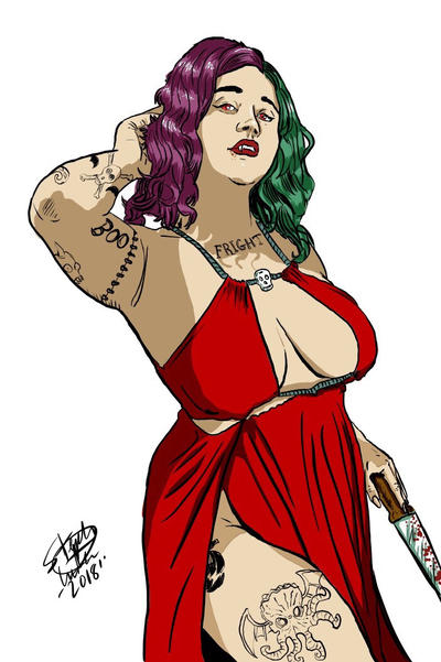 Vampire lady  by MonsterIslandStudios