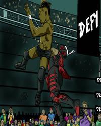 Pro wrestlers  by MonsterIslandStudios