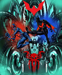 Spiderman 2099 vs Batman Beyond