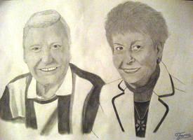 Pencil Drawing Portrait Grandparents by AniraFarinA