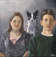 Portrait Acrylic Painting by AniraFarinA