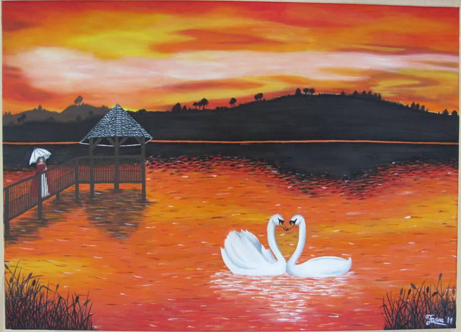 Sunset Acrylic Painting by AniraFarinA