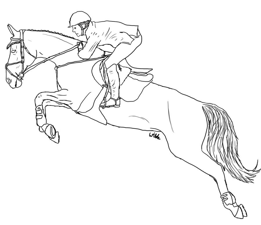 Line Art Horse : Horse jumping lineart by wildpathz on deviantart