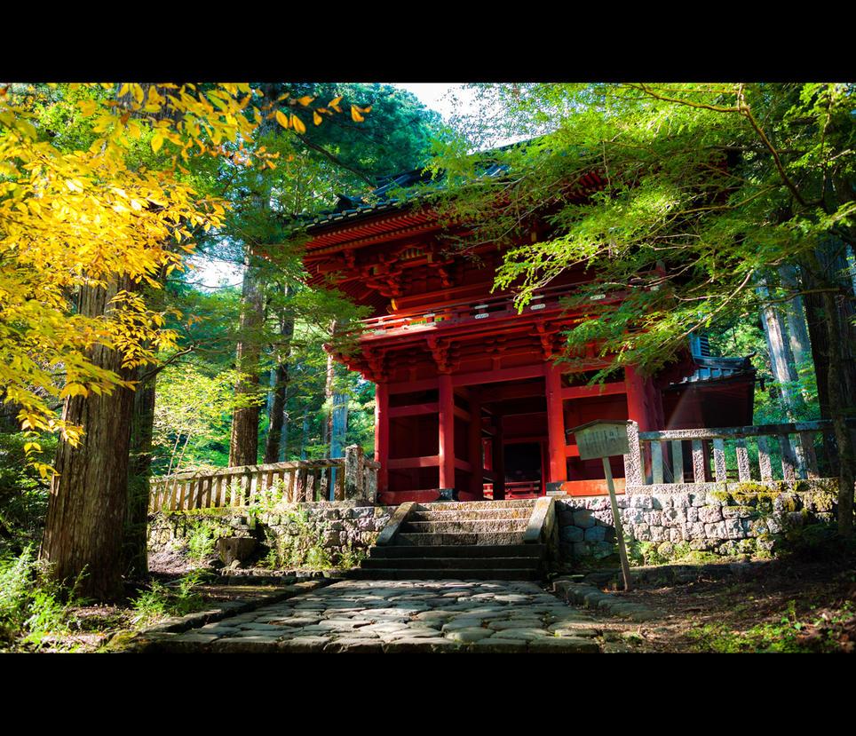 Takino Shrine by burningmonk