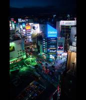 Shibuya Dusk by burningmonk