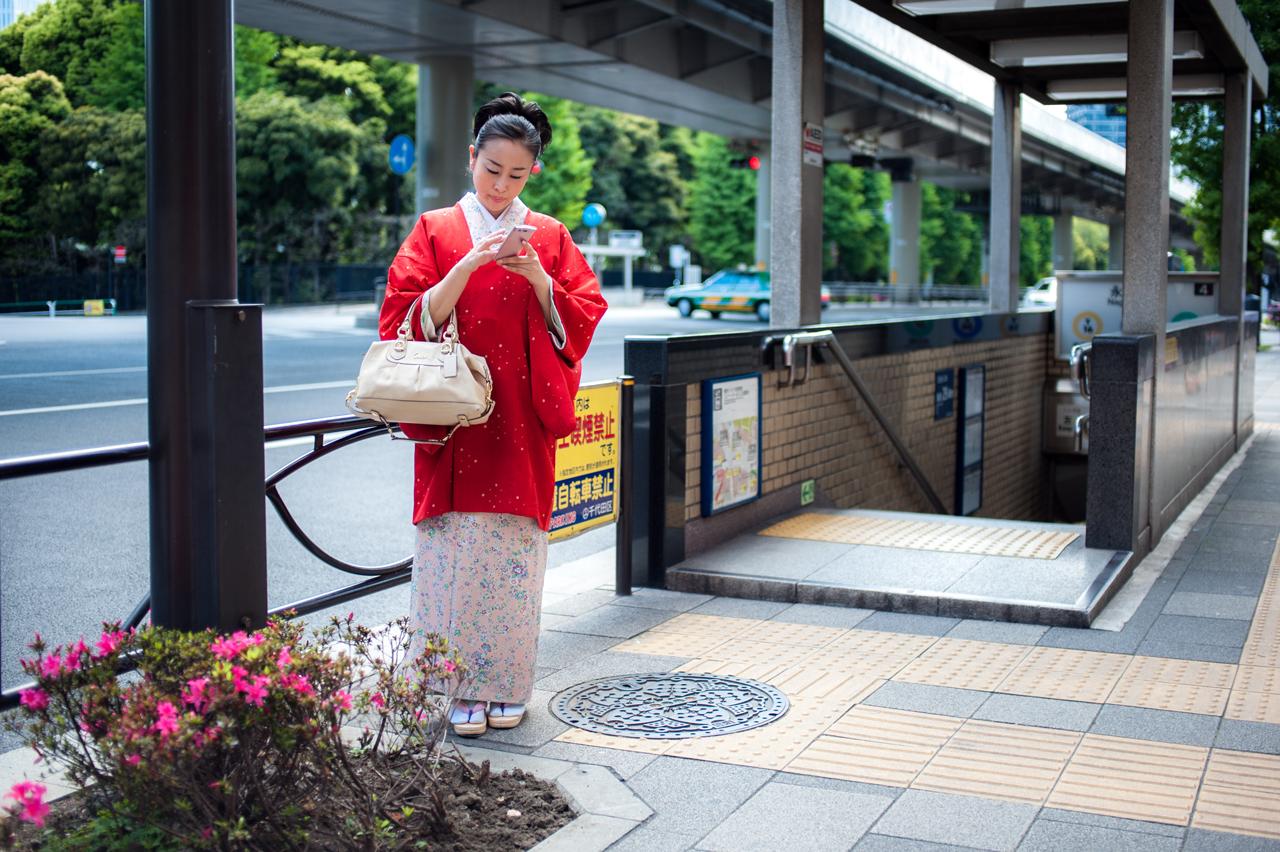 Red Kimono by burningmonk