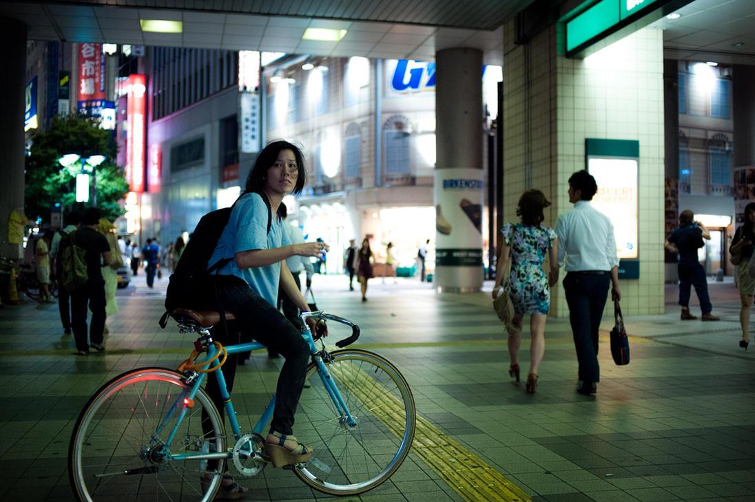 Bicycle Girl by burningmonk
