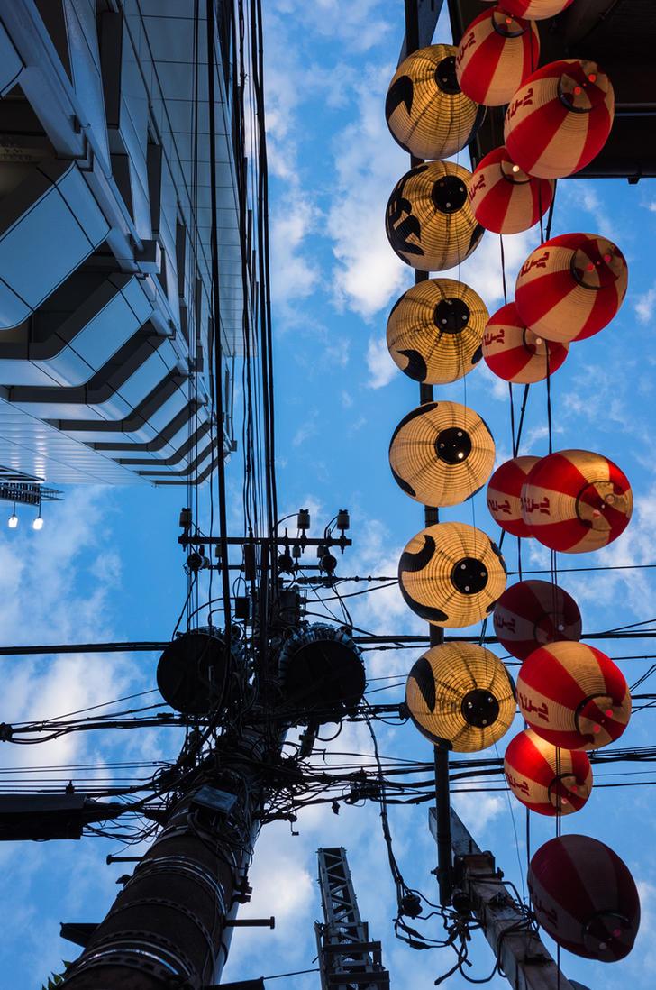 Sky Lamps by burningmonk