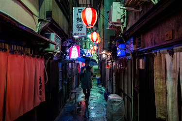 Rainy Night by burningmonk