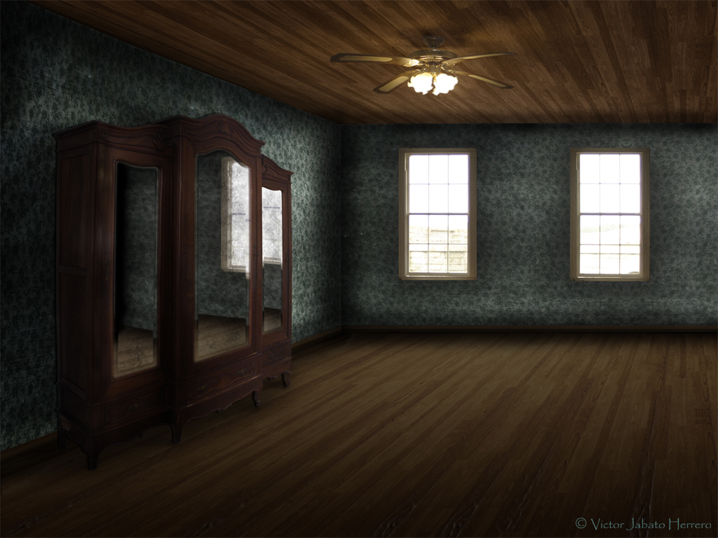 Old Empty Living Room by parapetista