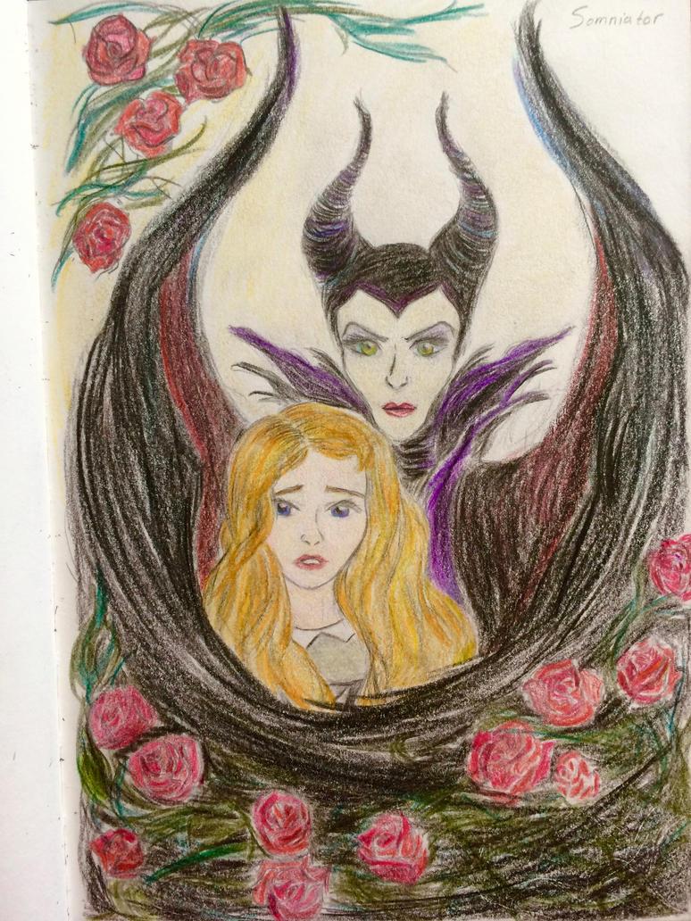 Maleficent and Aurora by Astrophil7 on DeviantArt