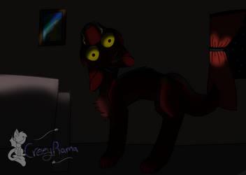 Creeptober day 2 demon dog by TheoAnime
