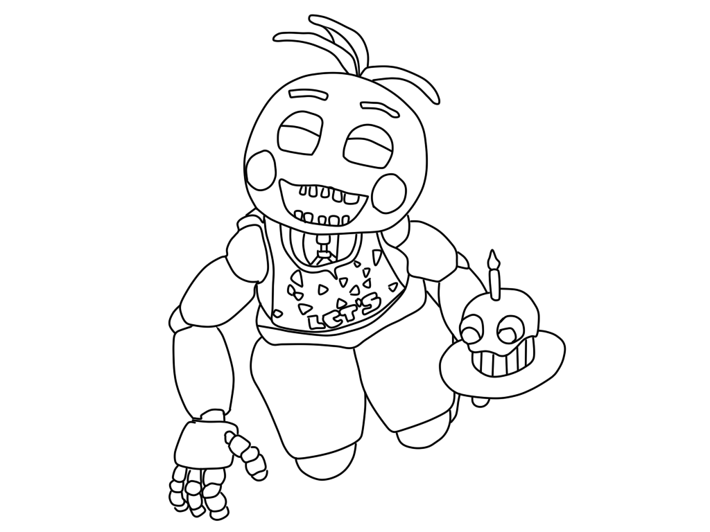 fnaf cute animatronics coloring pages - photo #40