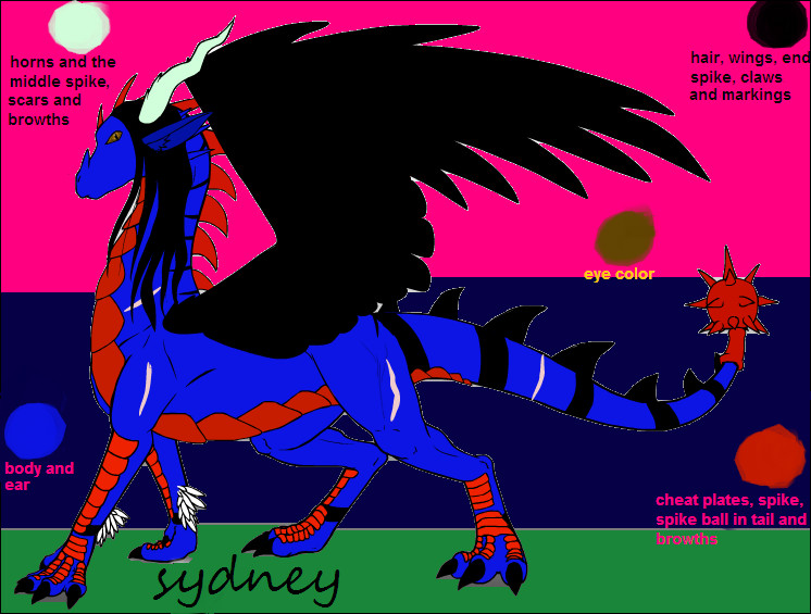 my dragon i make by lucario55
