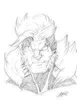 Sabretooth sketch headshot by shivadestroyer
