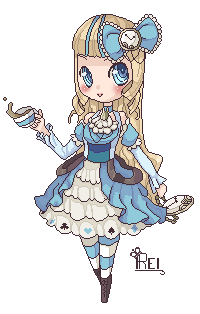 Alice in Wonderland Pixel by BubblyBlu