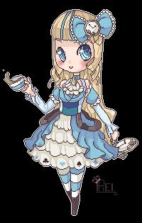 Alice in Wonderland Pixel by BubblyBlu