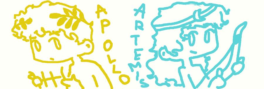 Apollo and Artemis by bratitude123