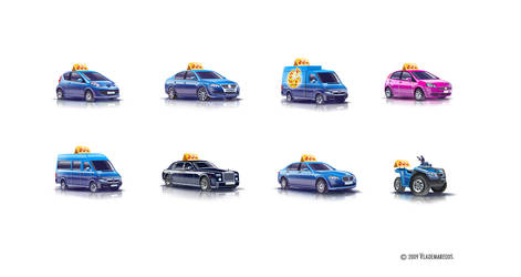 Taxi icons by Vlademareous