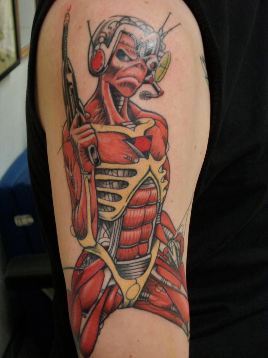 255 best Eddie Tattoos images on Pinterest | Instagram ...  |Iron Maiden Somewhere In Time Tattoo
