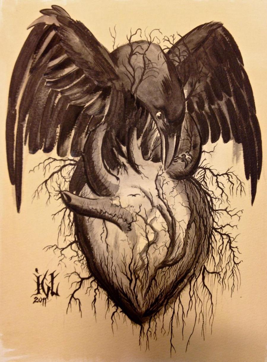 Crow Heart By Christiansocha On Deviantart