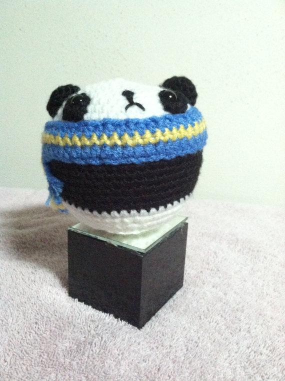 Crochet Amigurumi Small Ball : Crocheted Amigurumi Panda Ball by LunarIceDragon on DeviantArt