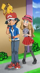 RQ5 - Ash and Serena by FloisonKeya
