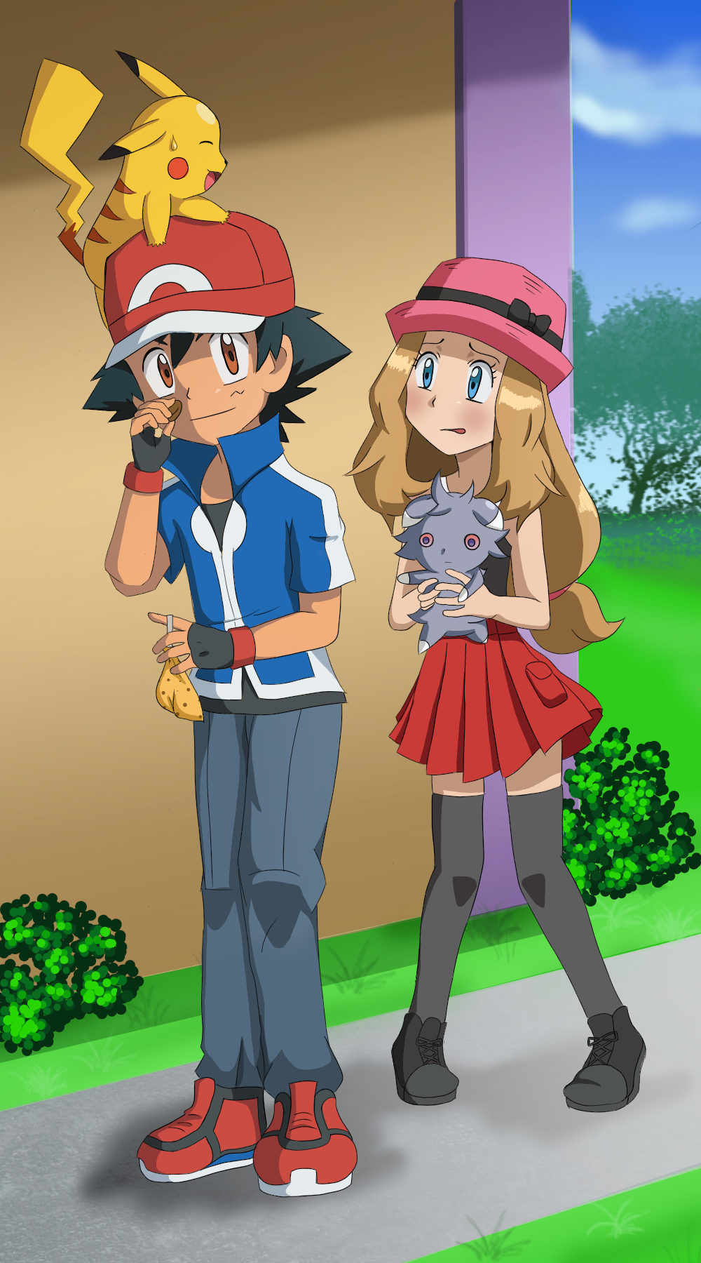 Rq5 Ash And Serena By Floisonkeya On Deviantart