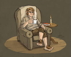 How a hobbit relaxes by Sherlockian