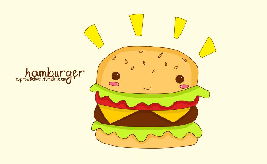 How to draw hamburger