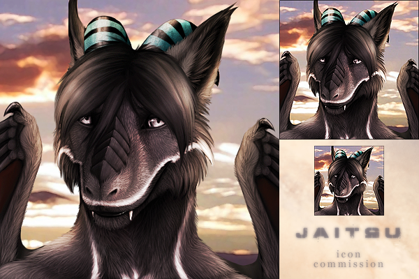 Icon commission for Jaitsu by DarkIceWolf