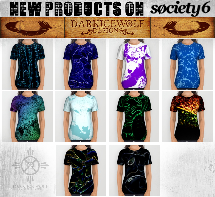 New Society6 Products! by DarkIceWolf