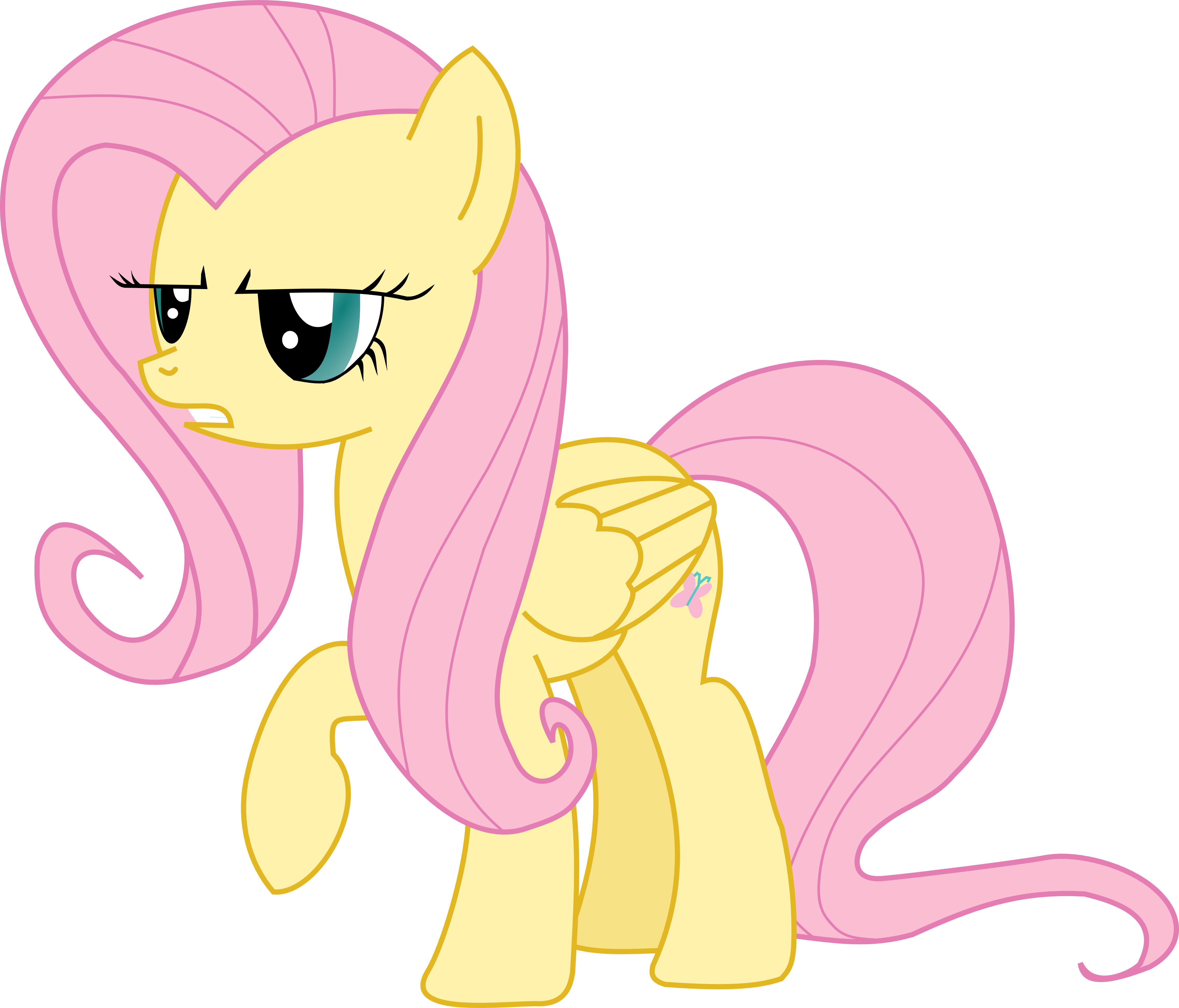 Fluttershy serious vector by Pangbot on DeviantArt