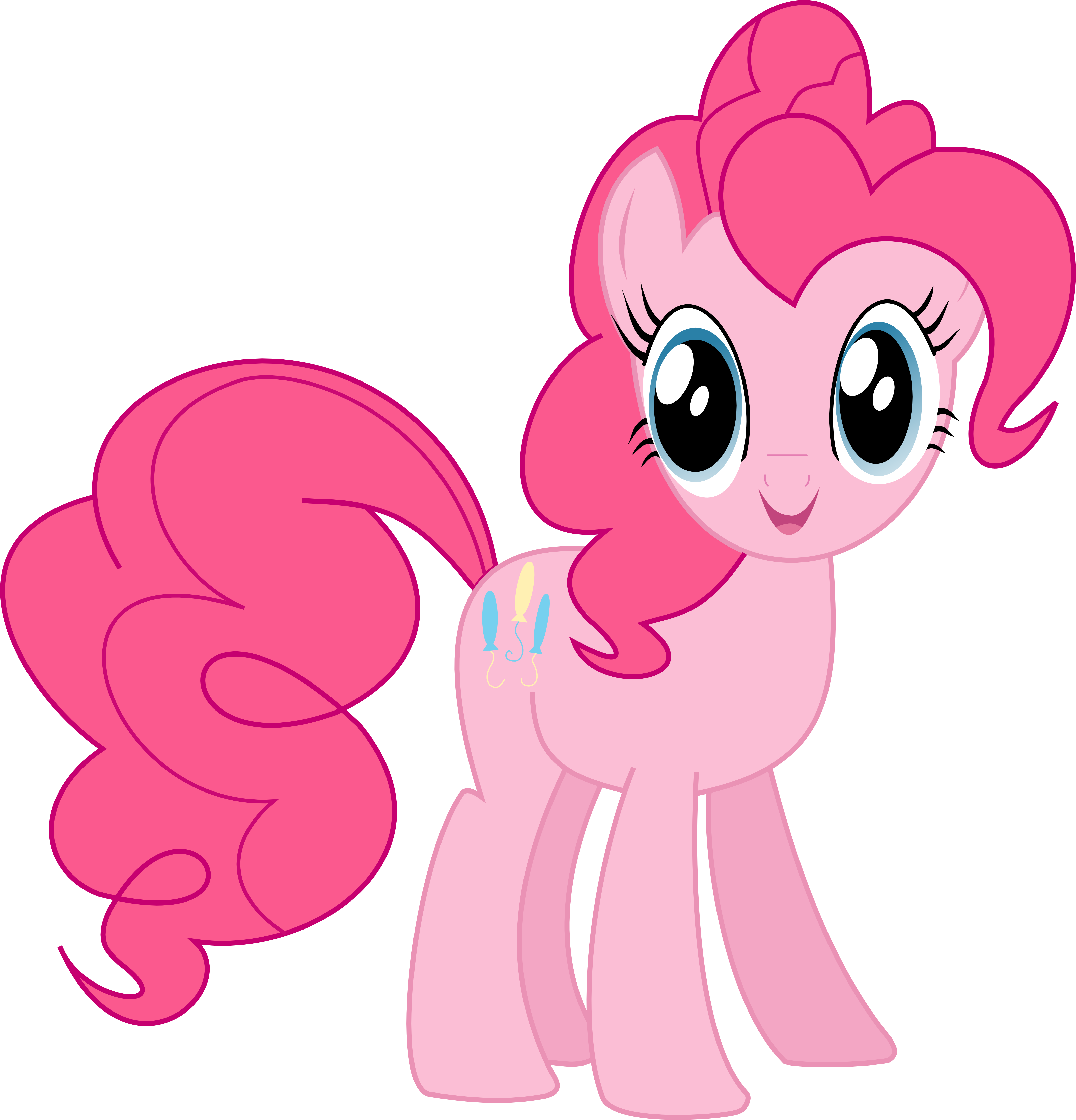 Pinkie Pie smiling vector by Pangbot