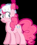 Pinkie Pie suspicious wearing diaper vector