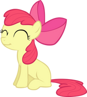 Request: Smiling Applebloom vector by Pangbot