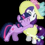 Request: Twilight hugging rarity