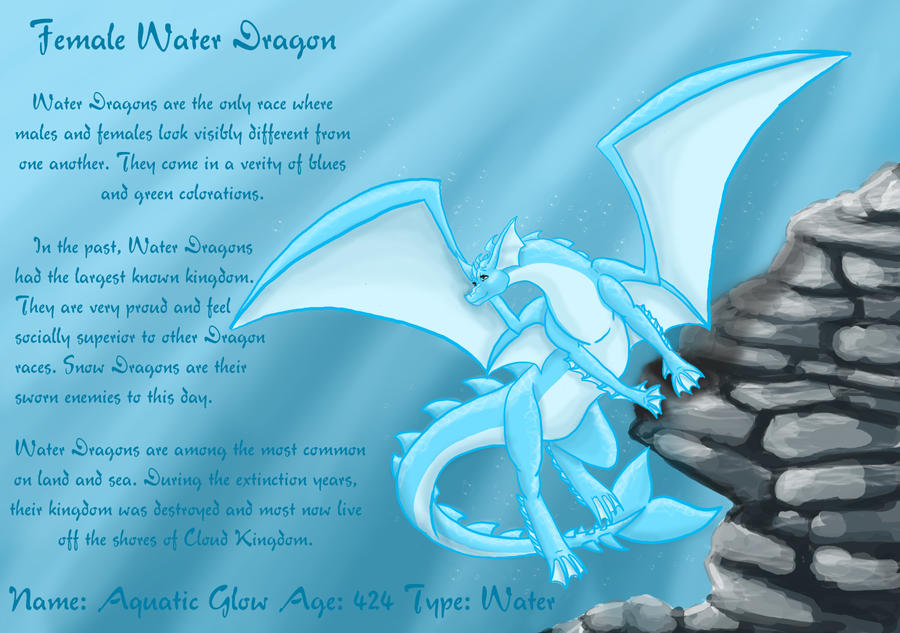 Female Water Dragon by DragonsFlameMagic - 135.6KB
