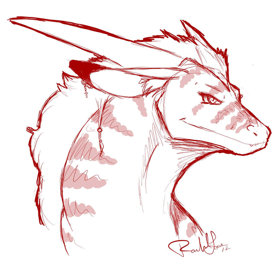 Dragon Sketch by DragonsFlameMagic