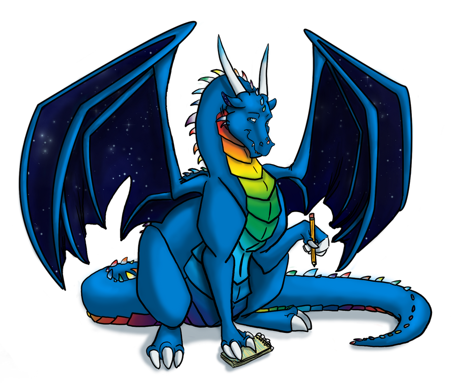 Sam Dragon Writer by DragonsFlameMagic