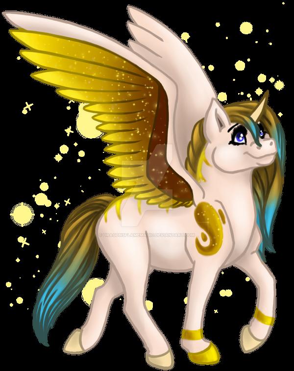Megs Alicorn by DragonsFlameMagic