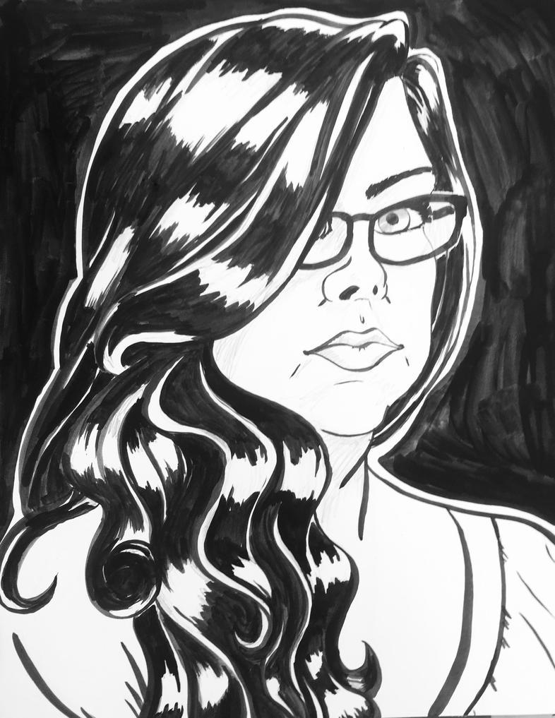 Self Portrait by DragonsFlameMagic